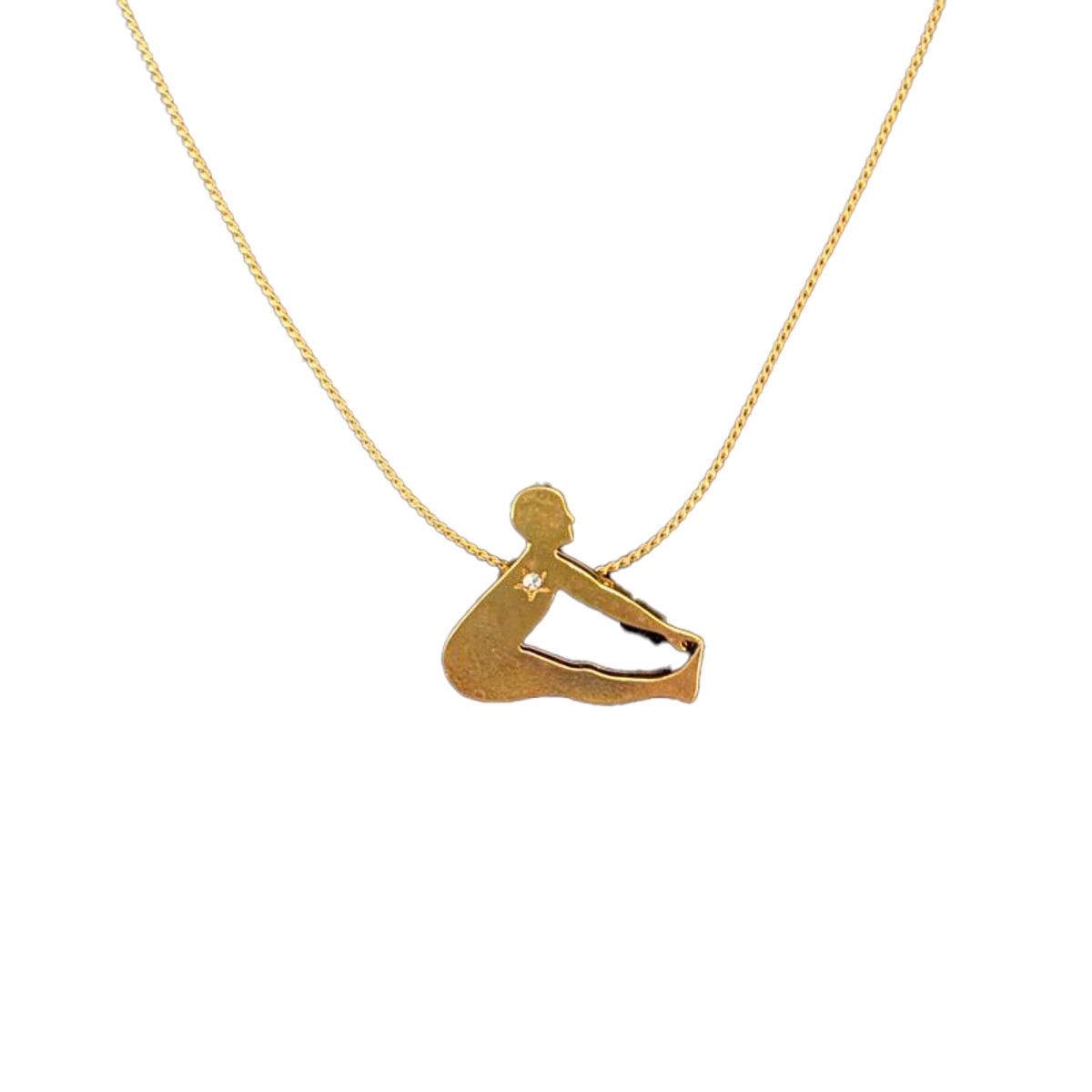 Michal Negrin Gold Yoga Pose Necklace