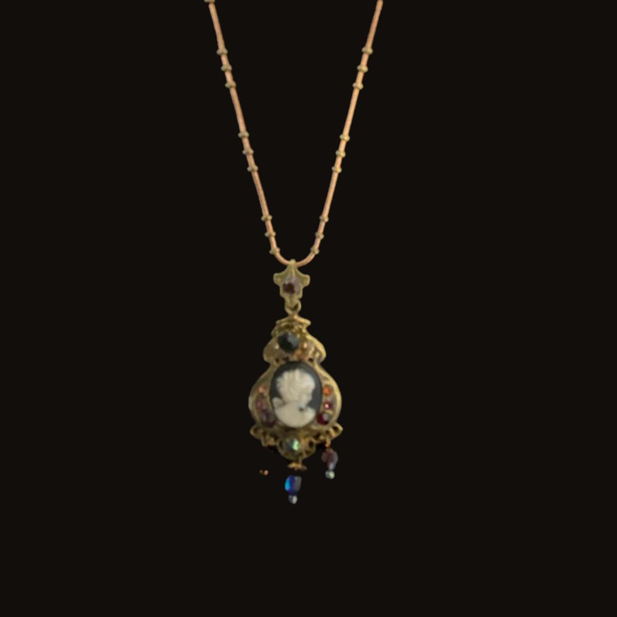 Michal Negrin Victorian Precious Women Portrait Necklace