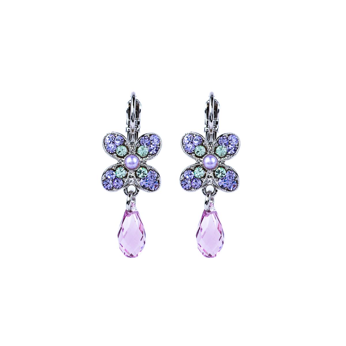 Mariana Wallflower Leverback Earrings in Matcha