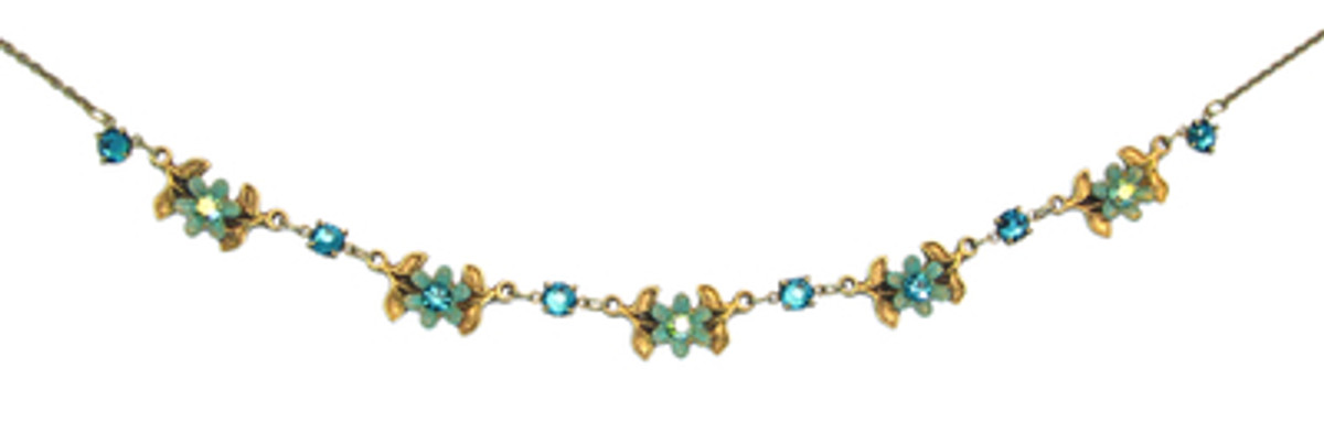 Michal Negrin Jewelry Flowers Necklace - 100-094240-031 - Multi Color