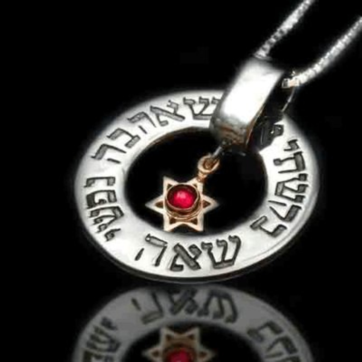 Kabbalah Jewelry Amulet Pendant For Matching And Love With Inserted Gem