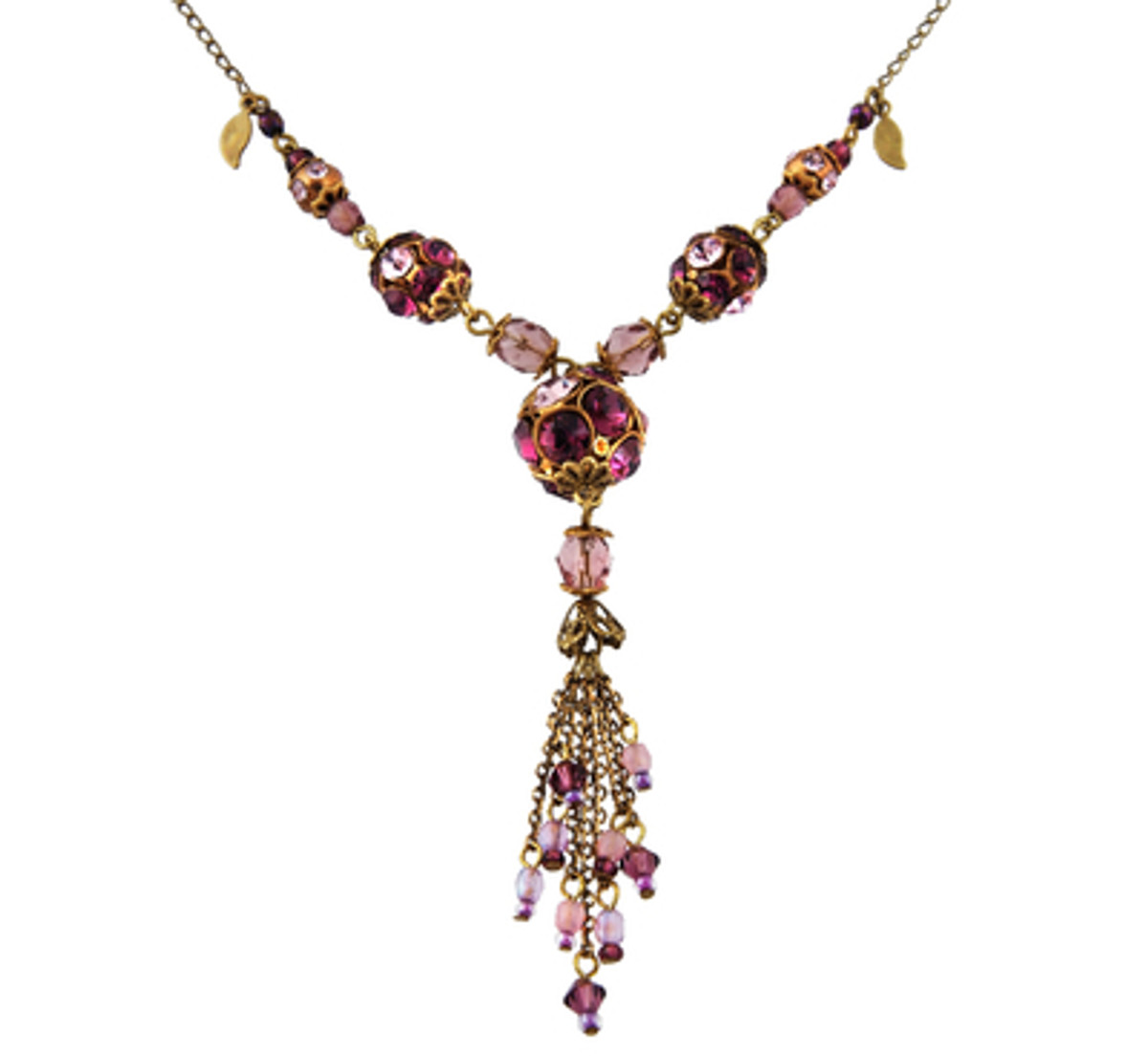 Michal Negrin Jewelry Purple Crystals Necklace