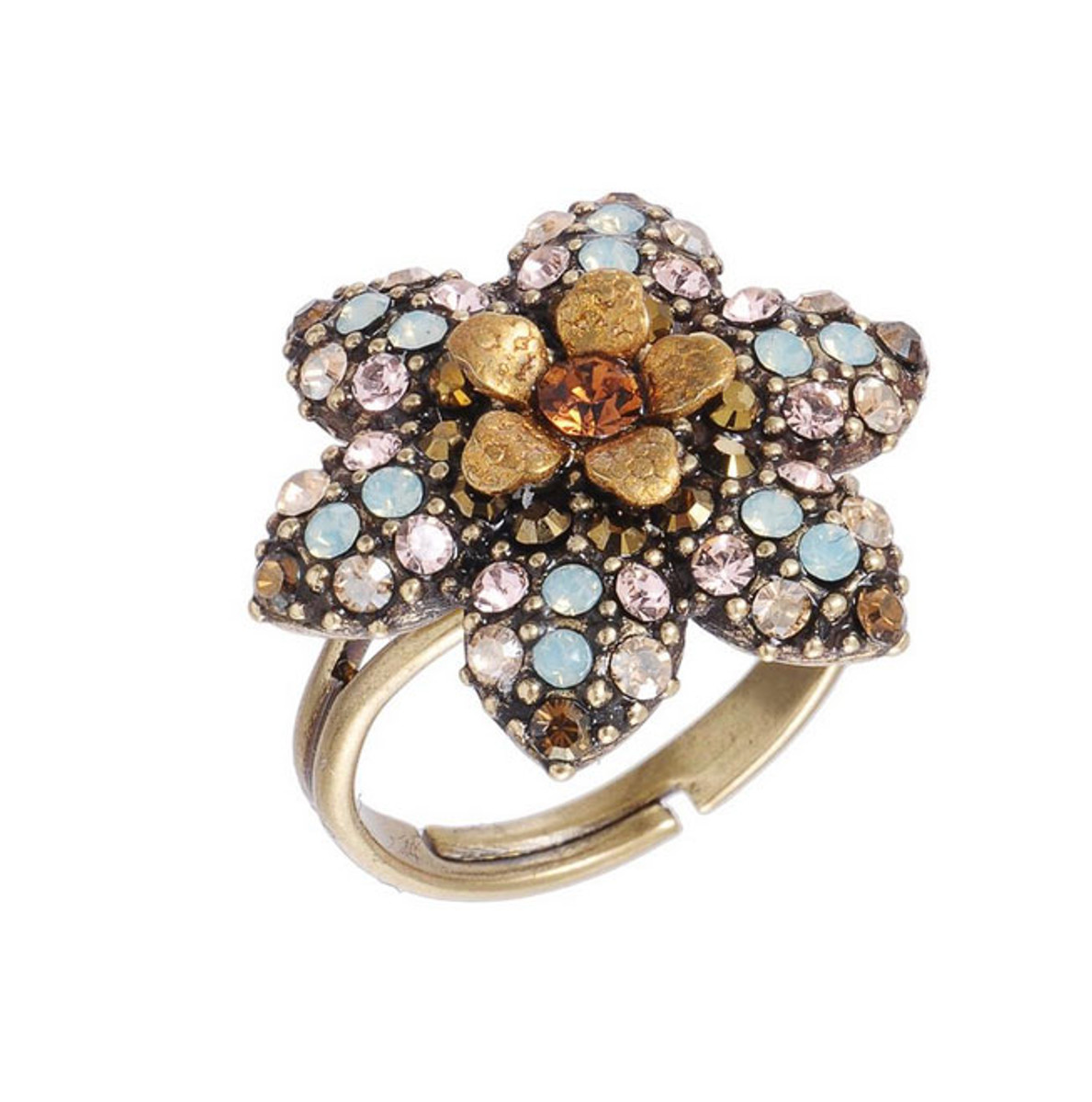 Michal Negrin Jewelry Crystal Flower Star Ring