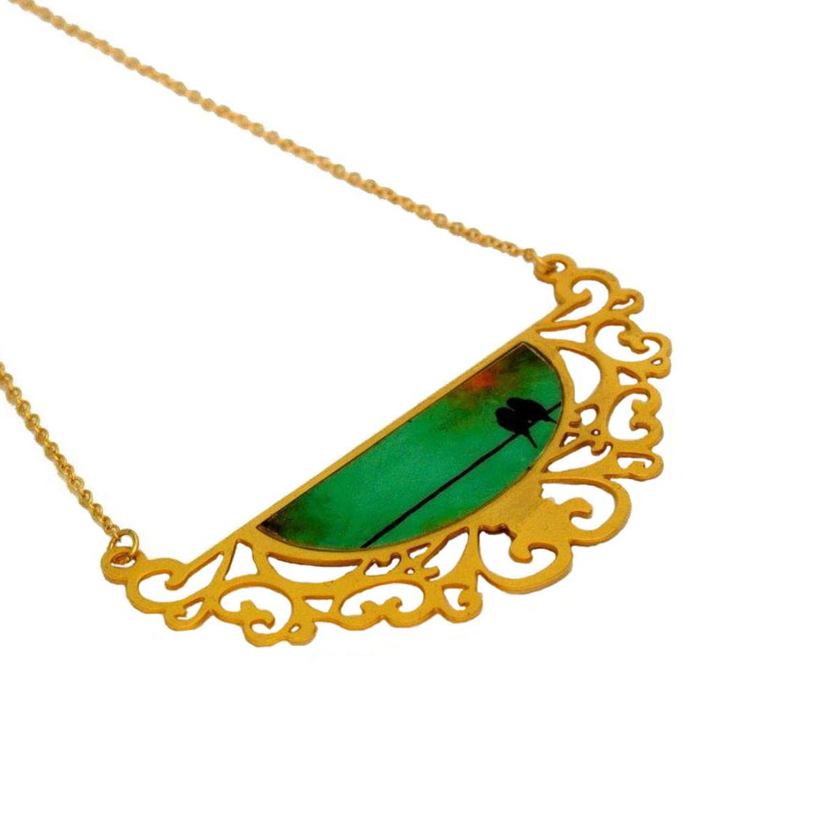 Iris Designs Lovebirds Necklace