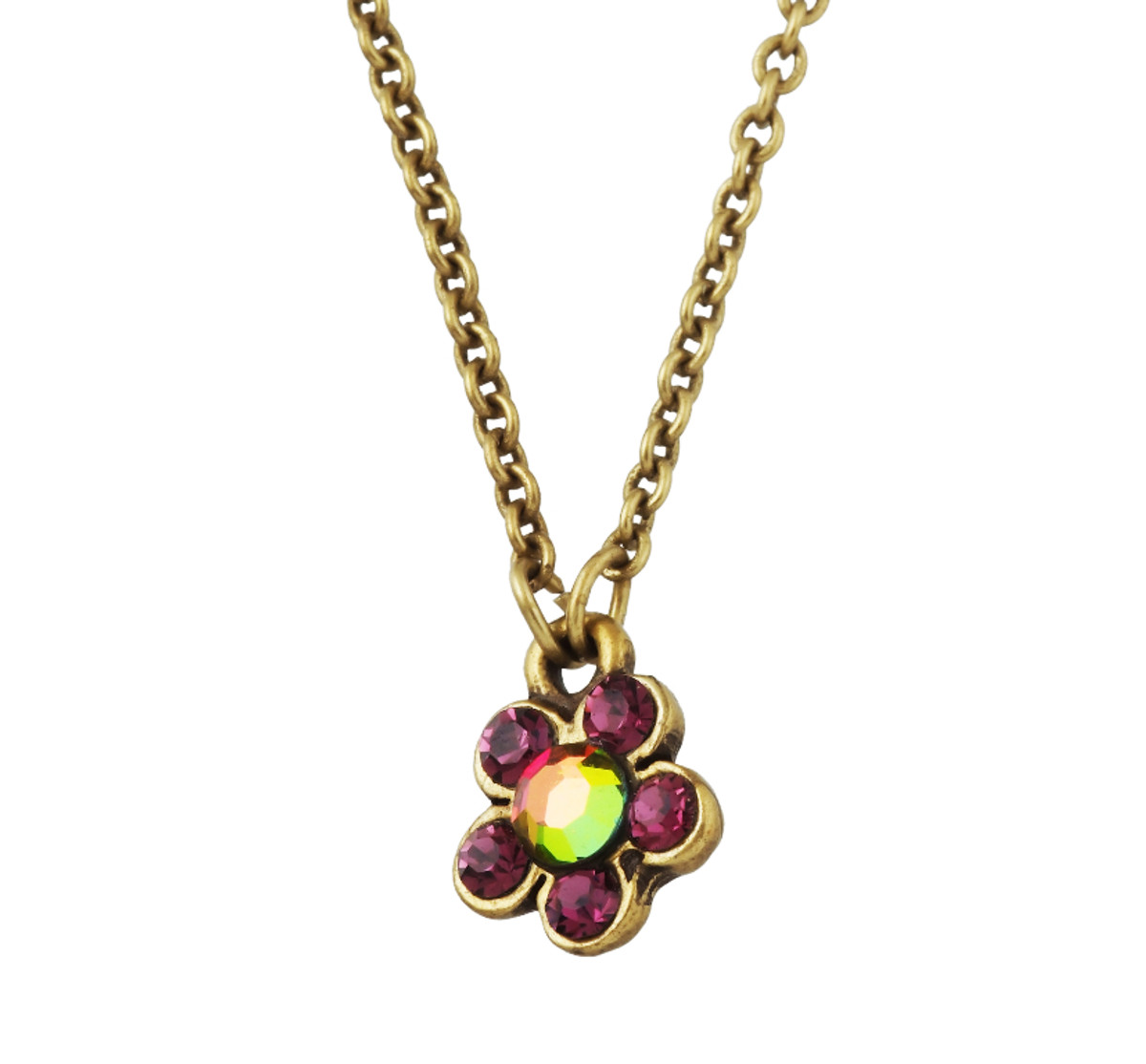 Michal Negrin Classic Small Flower Crystal Necklace