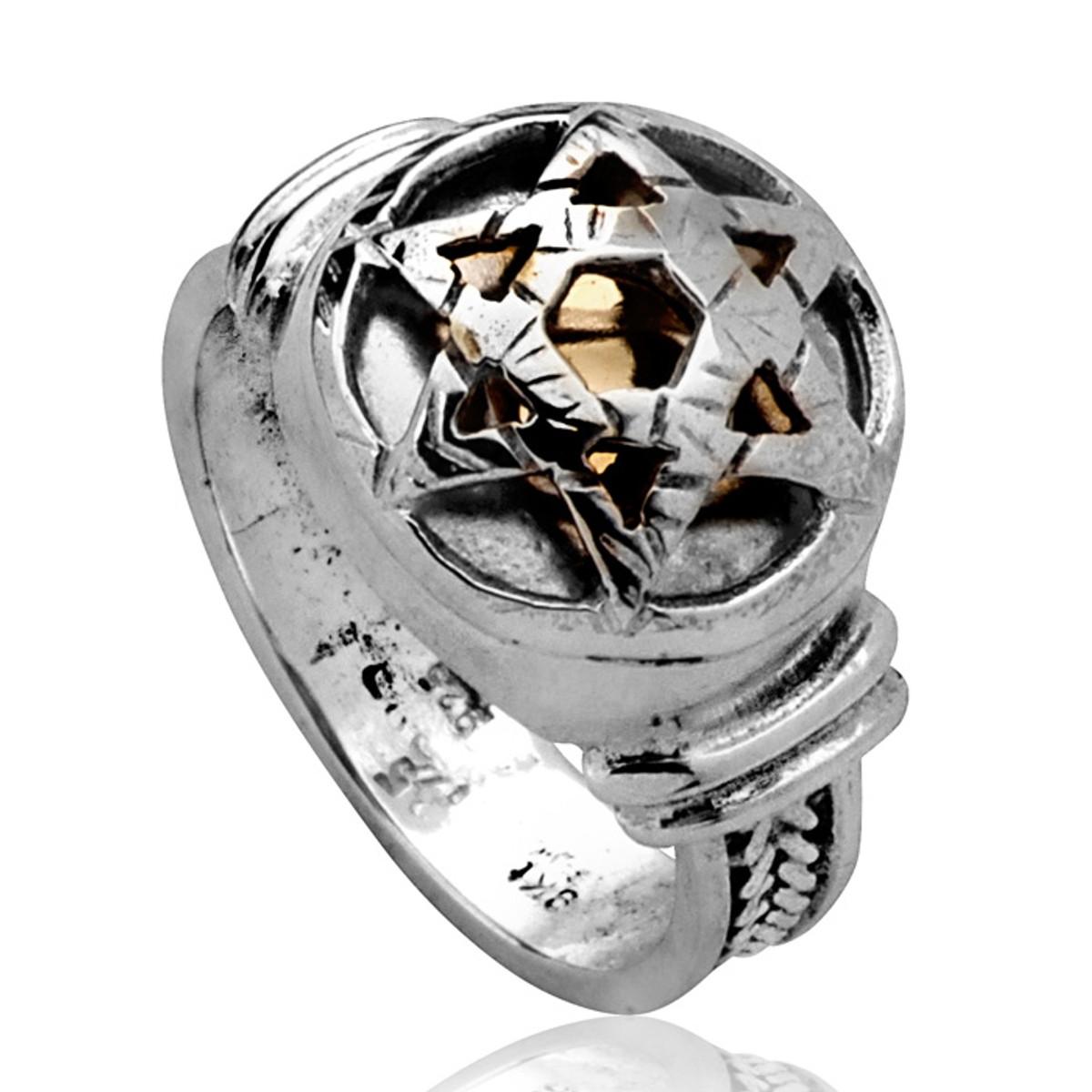 5 Metal Evil Eye Ring With Star Of David