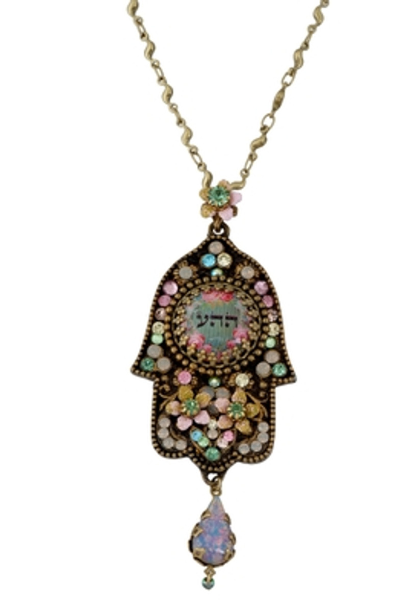 Hamsa Hand Evil Eye Necklace By Michal Negrin