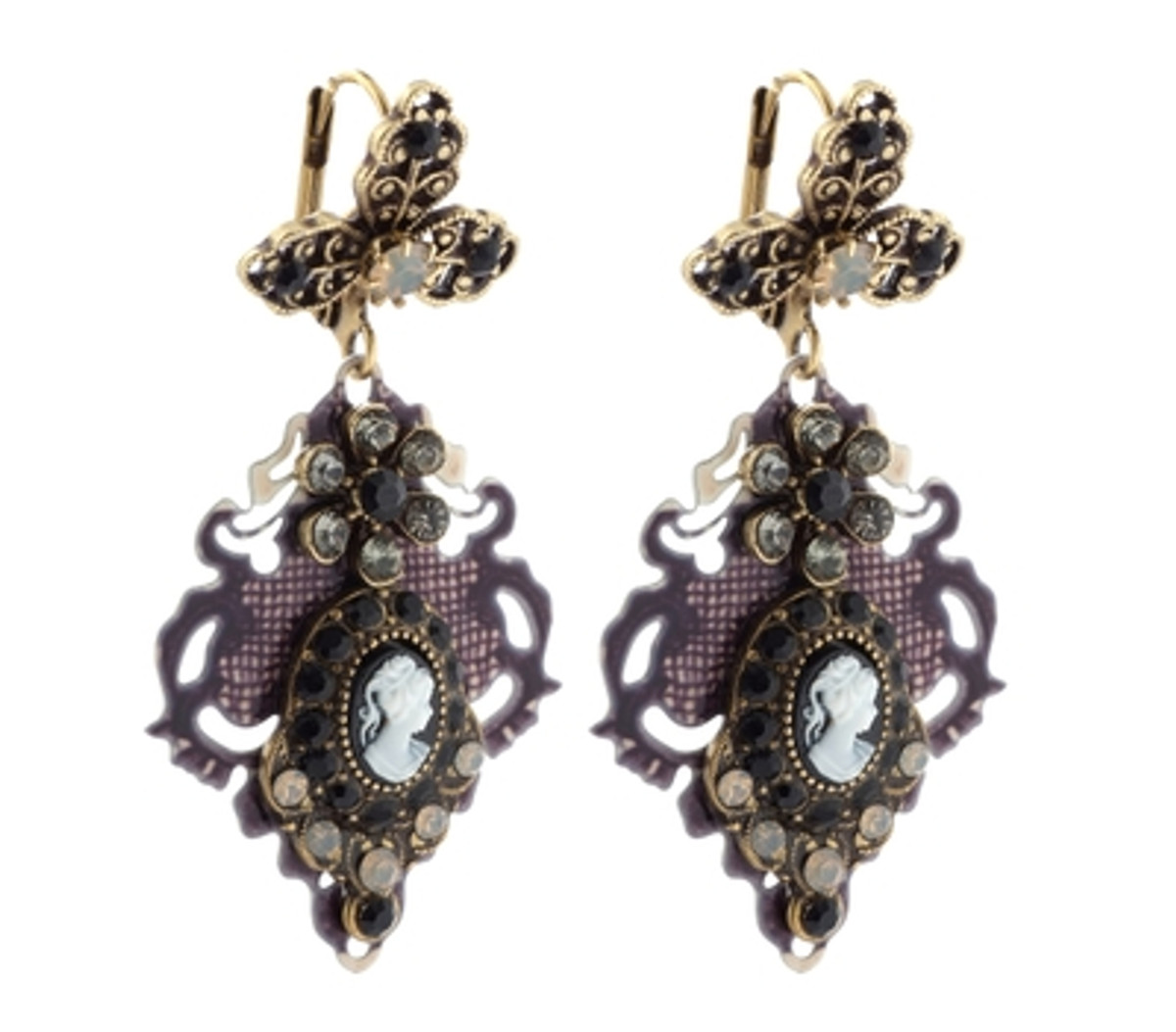 Michal Negrin Classic Earrings Victorian Hook