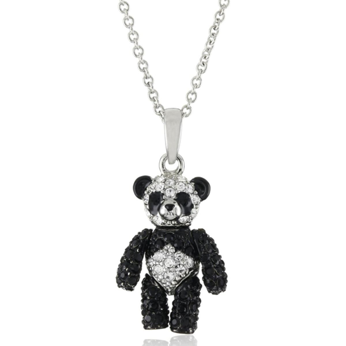 Andrew Hamilton Crawford Jewelry Panda Bear Black Necklace
