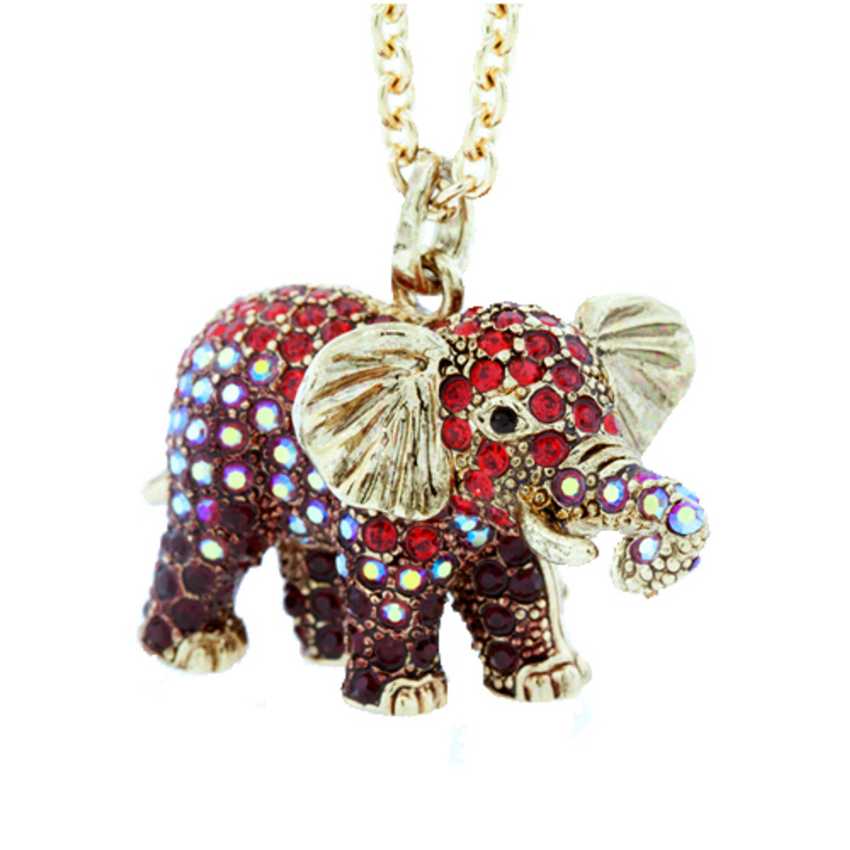 Andrew Hamilton Crawford Jewelry Elephant Necklace Bronze Necklace