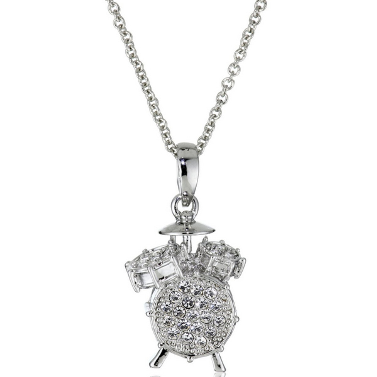 Hamilton Crawford Jewelry Drum Set Necklace Silver Necklace