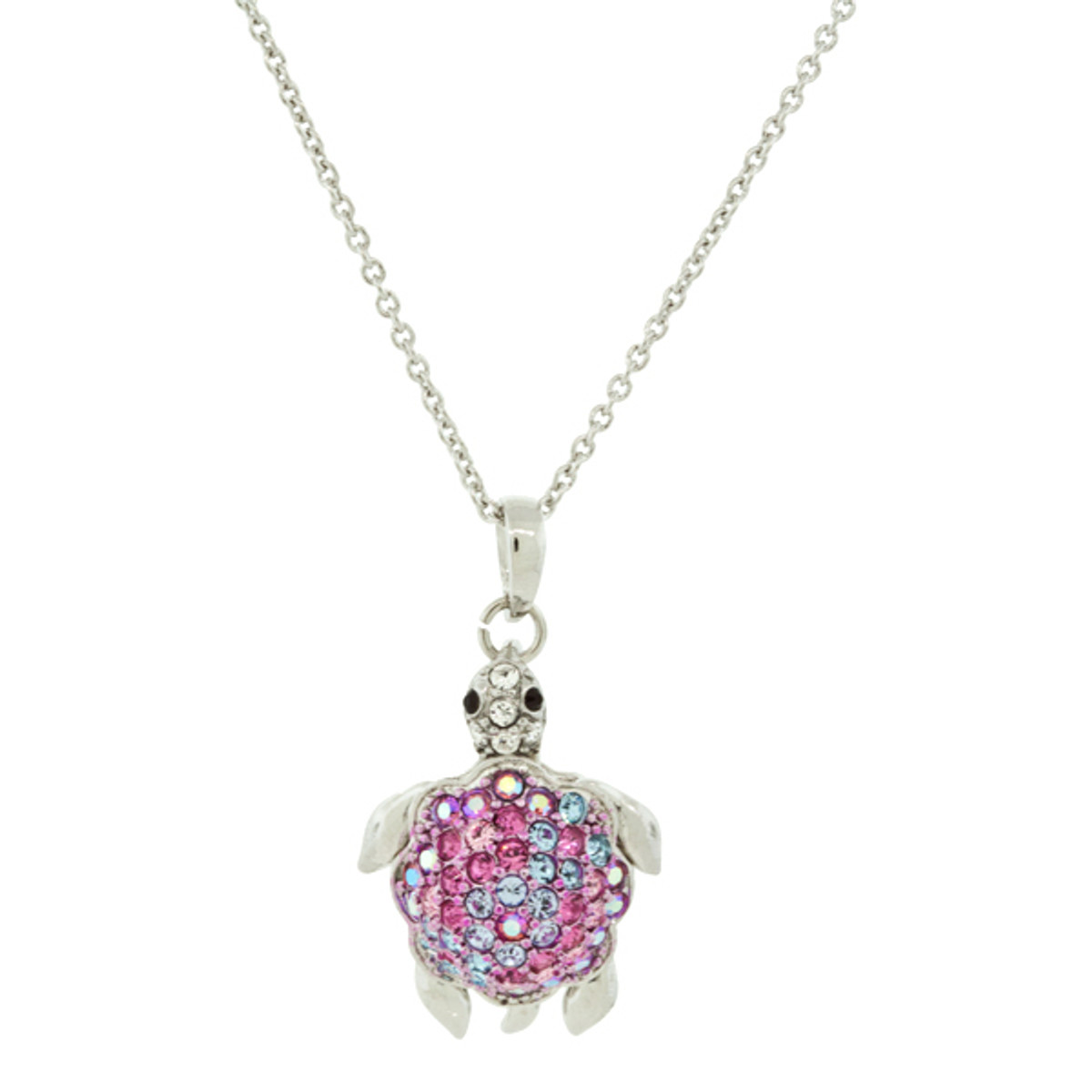 Andrew Hamilton Crawford Jewelry Turtle Necklace Silver Pink Necklace
