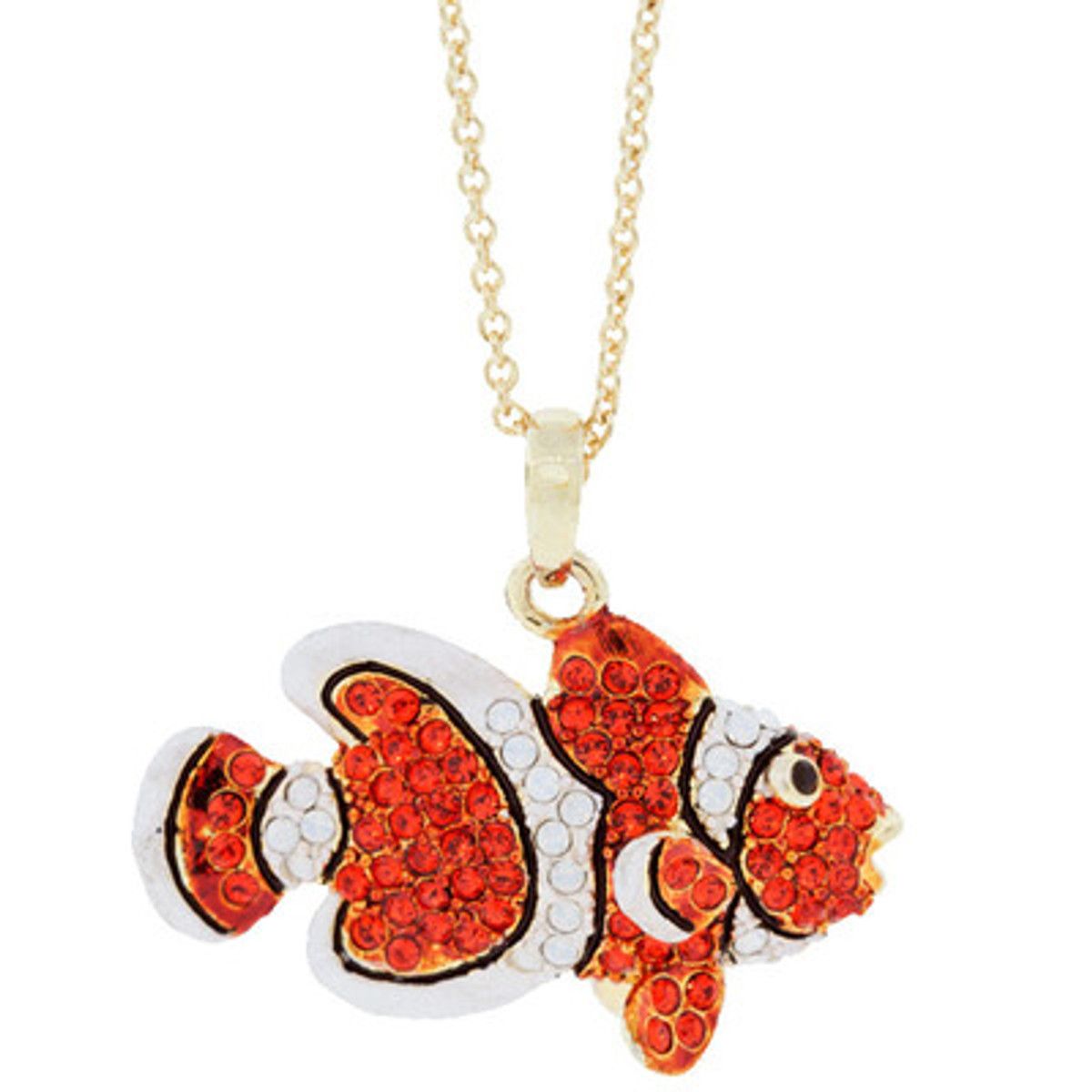 A Unique Clownfish Necklace Orange Necklace From Andrew Hamilton Crawford Jewelry