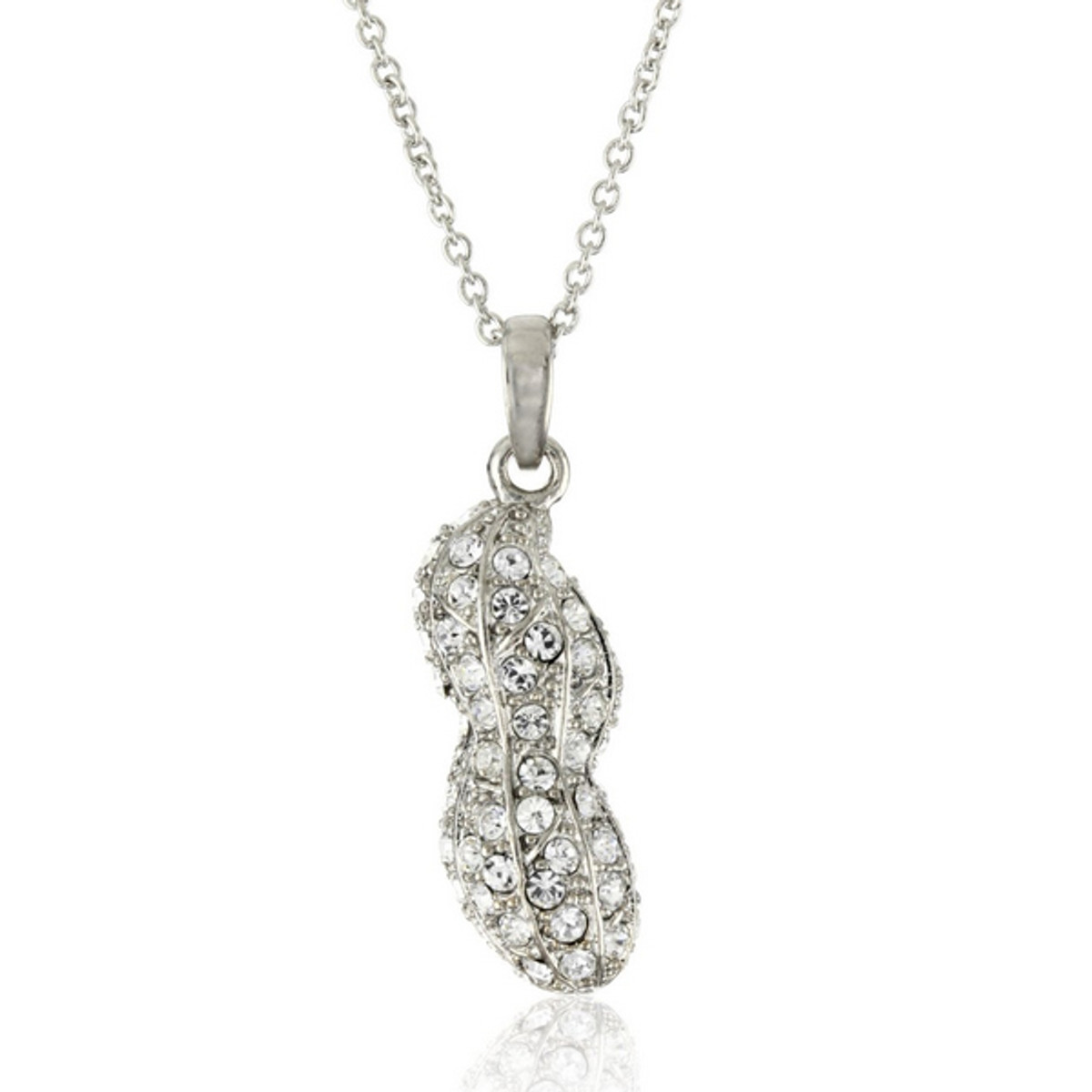 Andrew Hamilton Crawford Jewelry Sparkly Peanut Necklace Silver Necklace