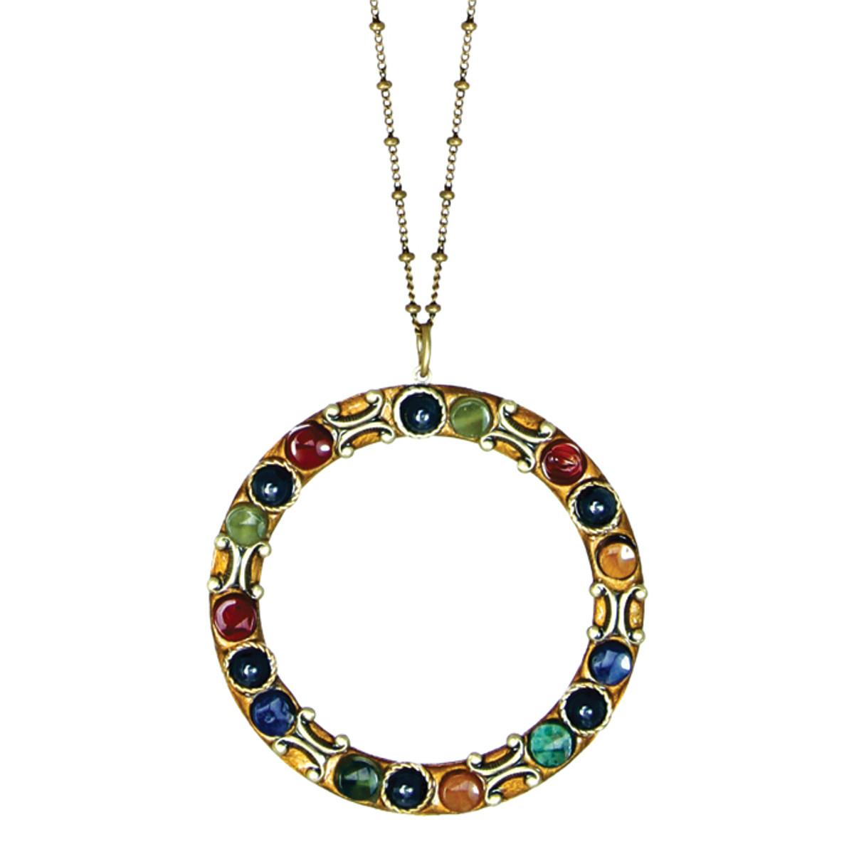 Michal Golan Jewelry Necklace - Durango Hoop Chain