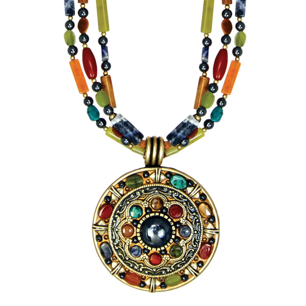 Michal Golan Necklace - Durango Round Triple Beads