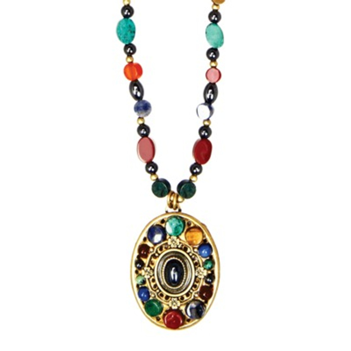 Michal Golan Necklace - Durango Oval Beaded Chain