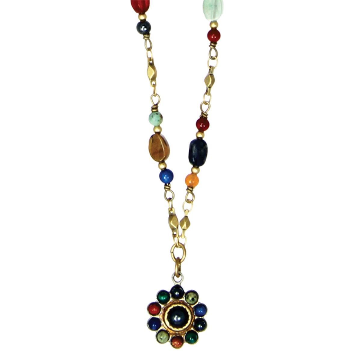 Michal Golan Necklace - Durango Small Round Chain Bead