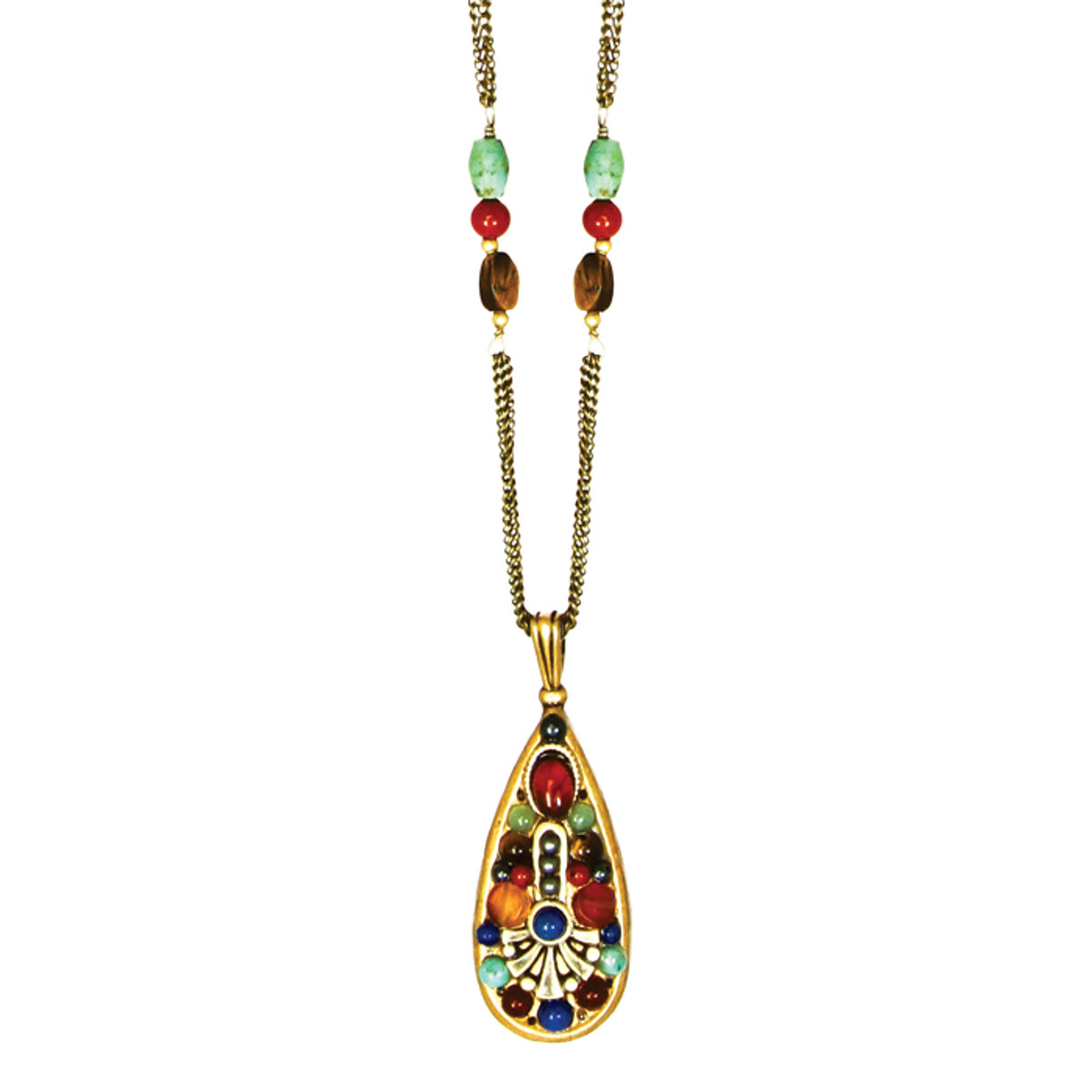 Michal Golan Necklace - Durango Teardrop Chain Bead