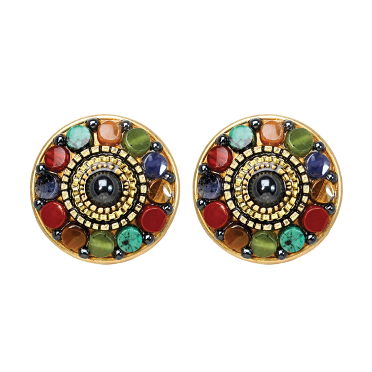 Michal Golan Earrings - Durango Round Post/Clip