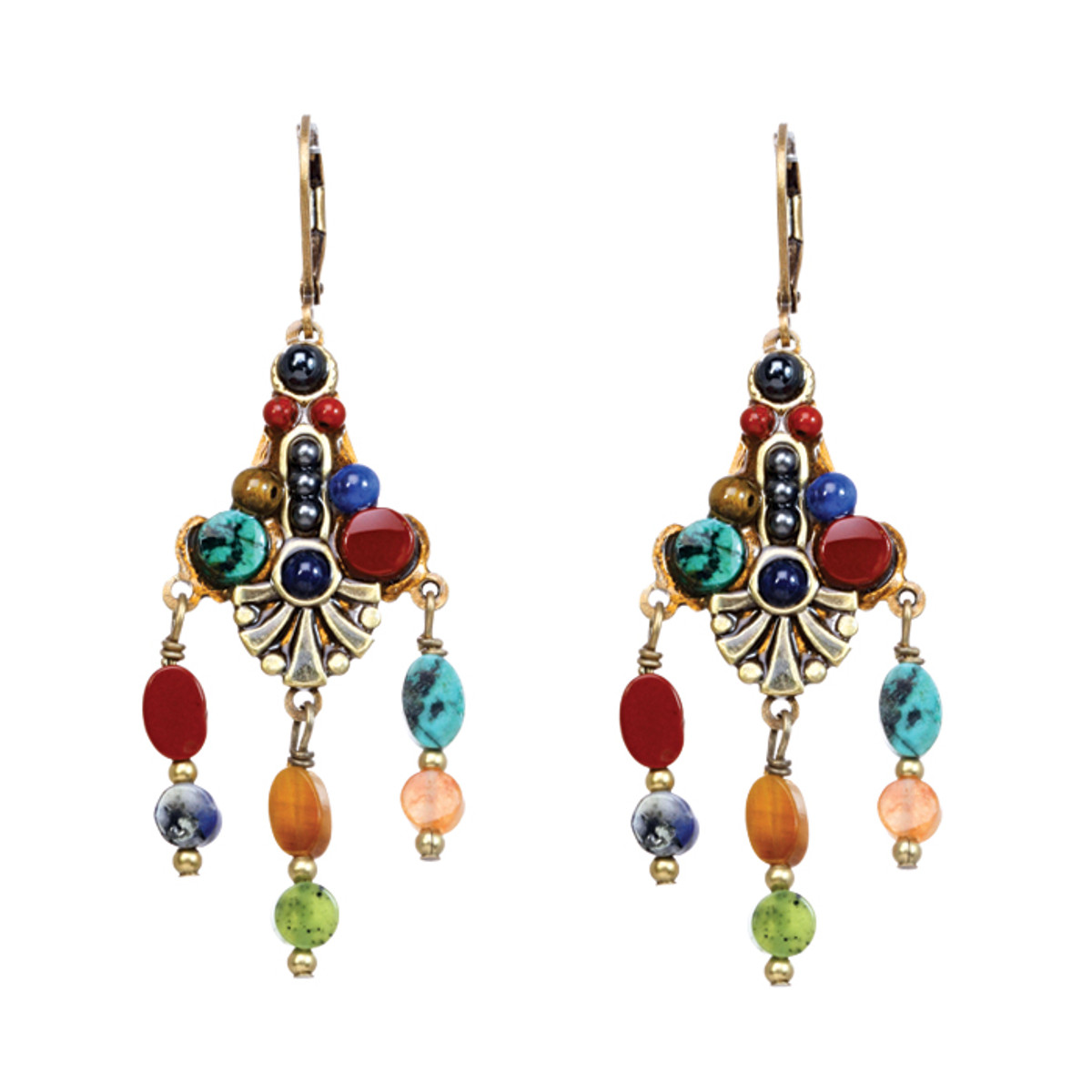 Michal Golan Earrings - Durango 3 Dangles Wire