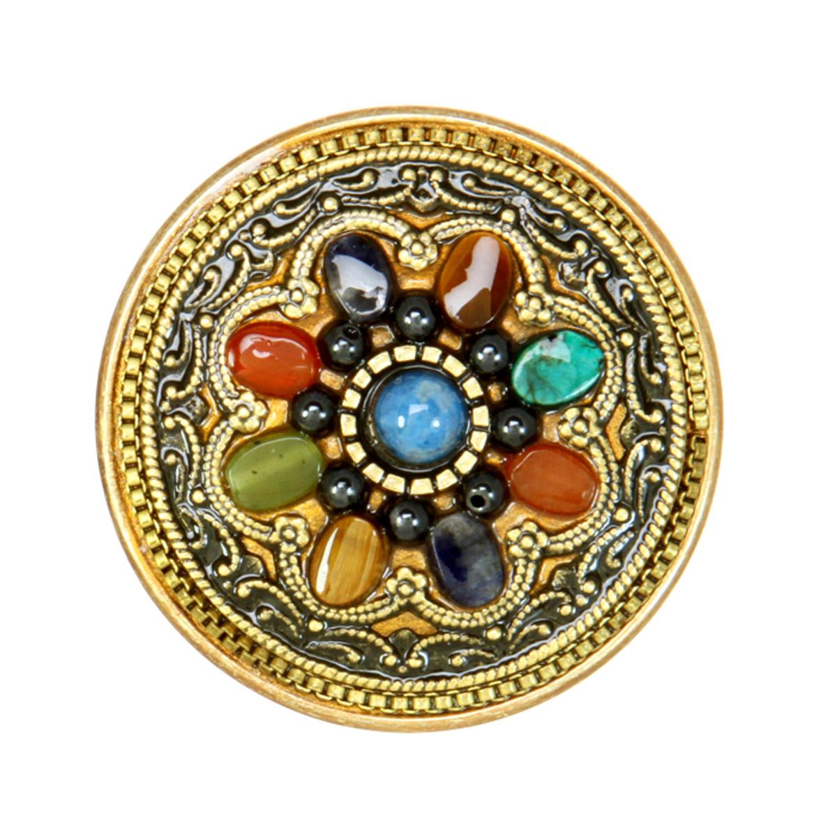 Michal Golan Jewelry Durango Round Pin