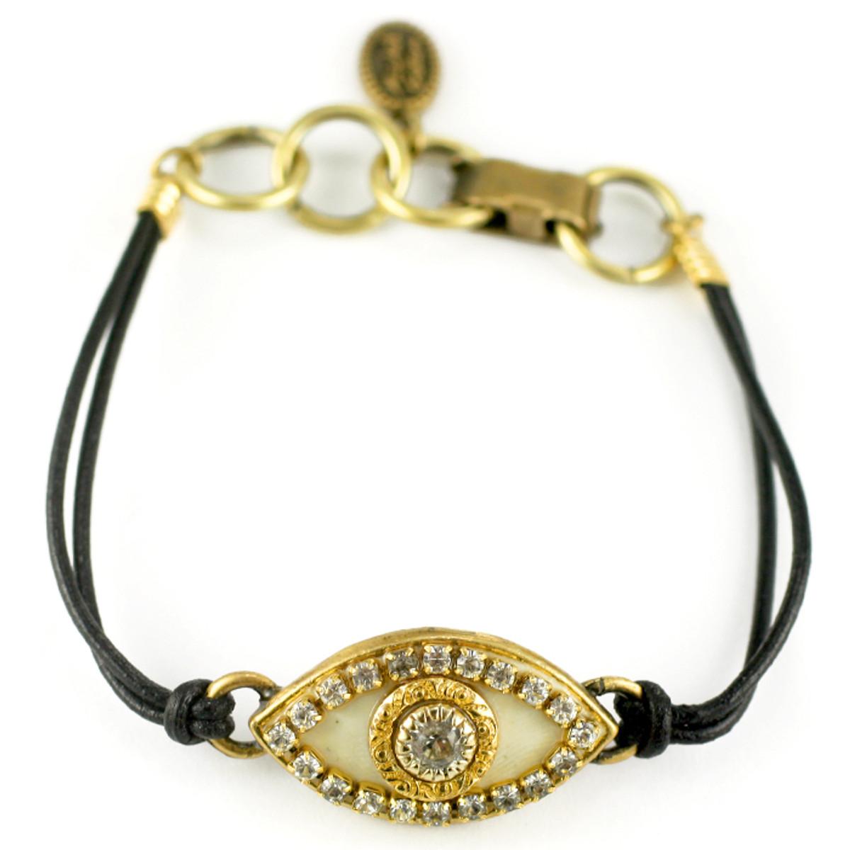 Evil Eye Bracelet From Michal Golan - Gold Eye