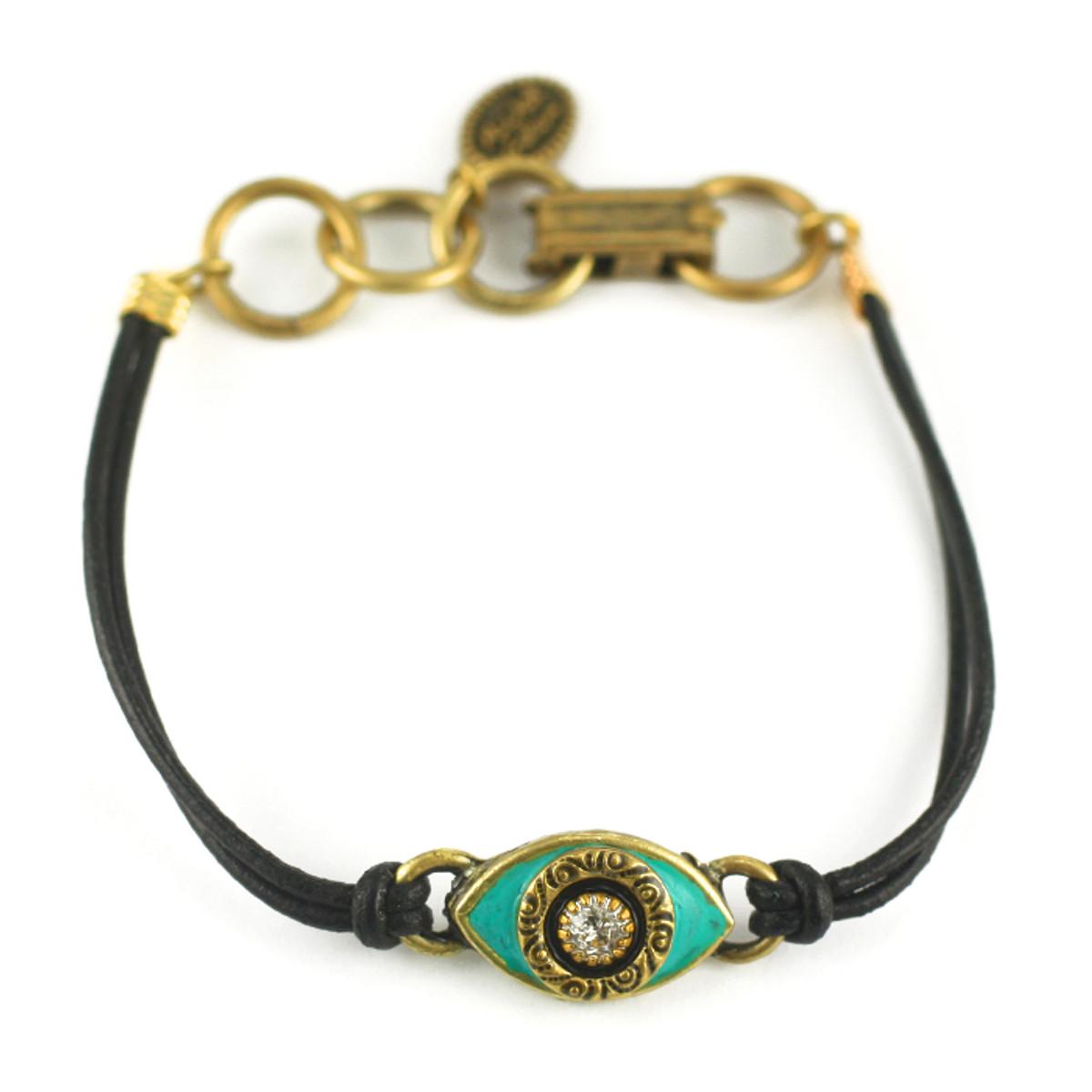 Evil Eye Bracelet From Michal Golan - Green, Medium Eye