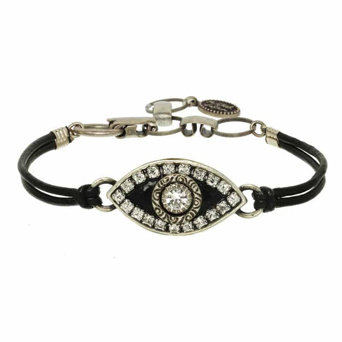 Evil Eye Bracelet From Michal Golan - Black Eye With Crystal Center