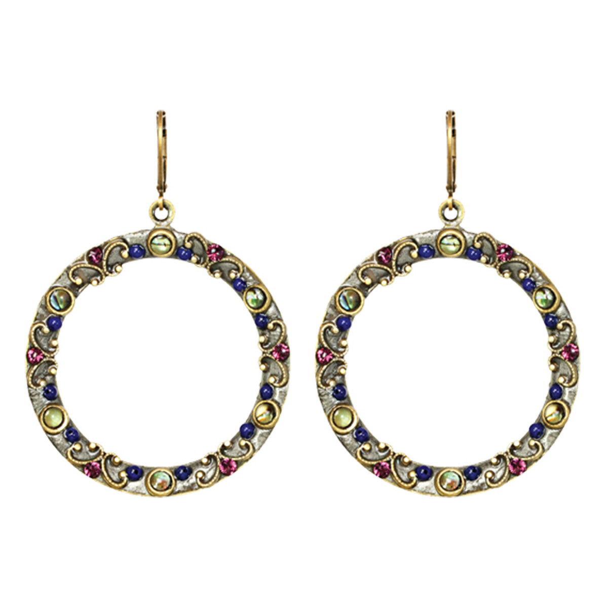 Michal Golan Earrings - Florence Hoop With Euro Wire
