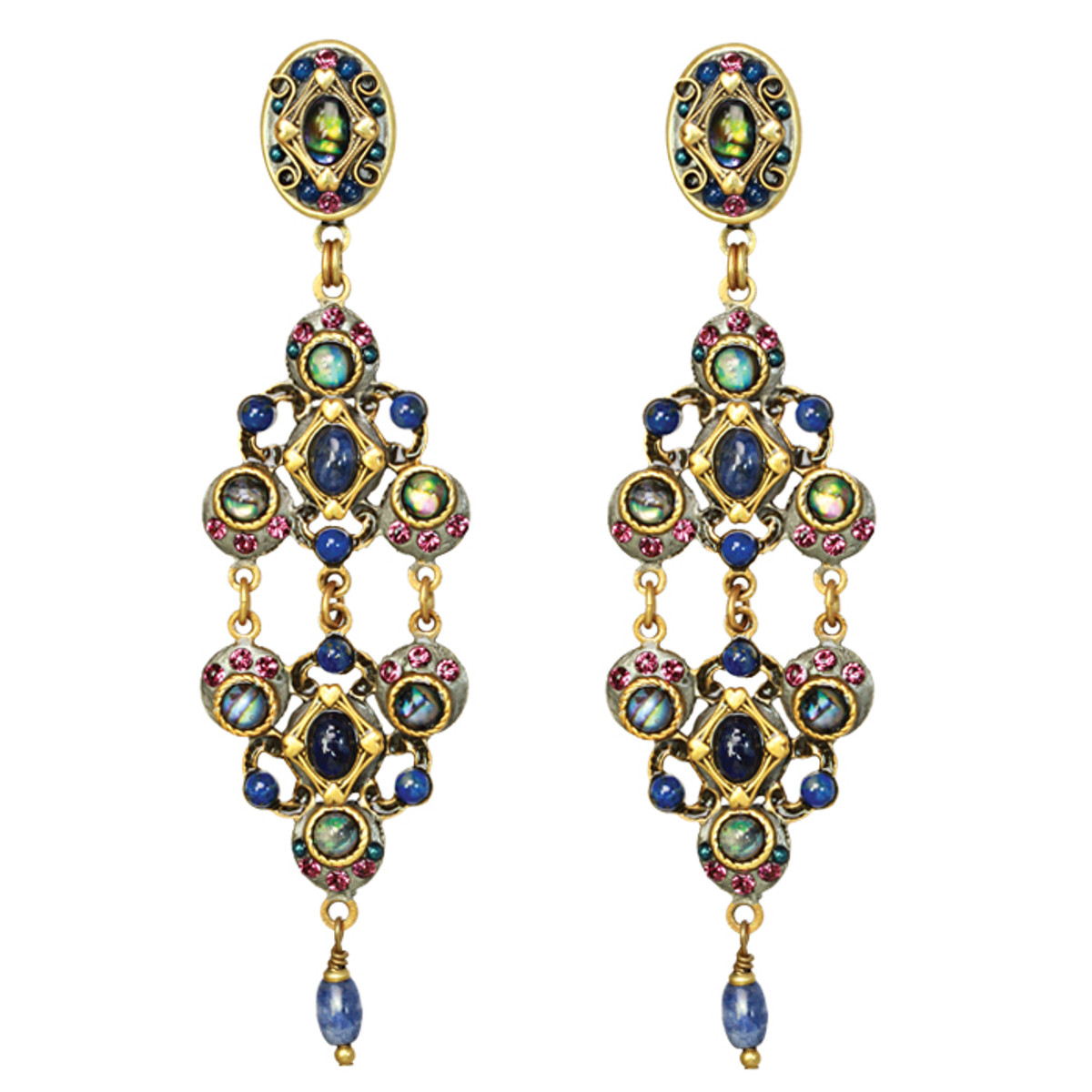 Michal Golan Earrings - Florence Double Triangle Dangle