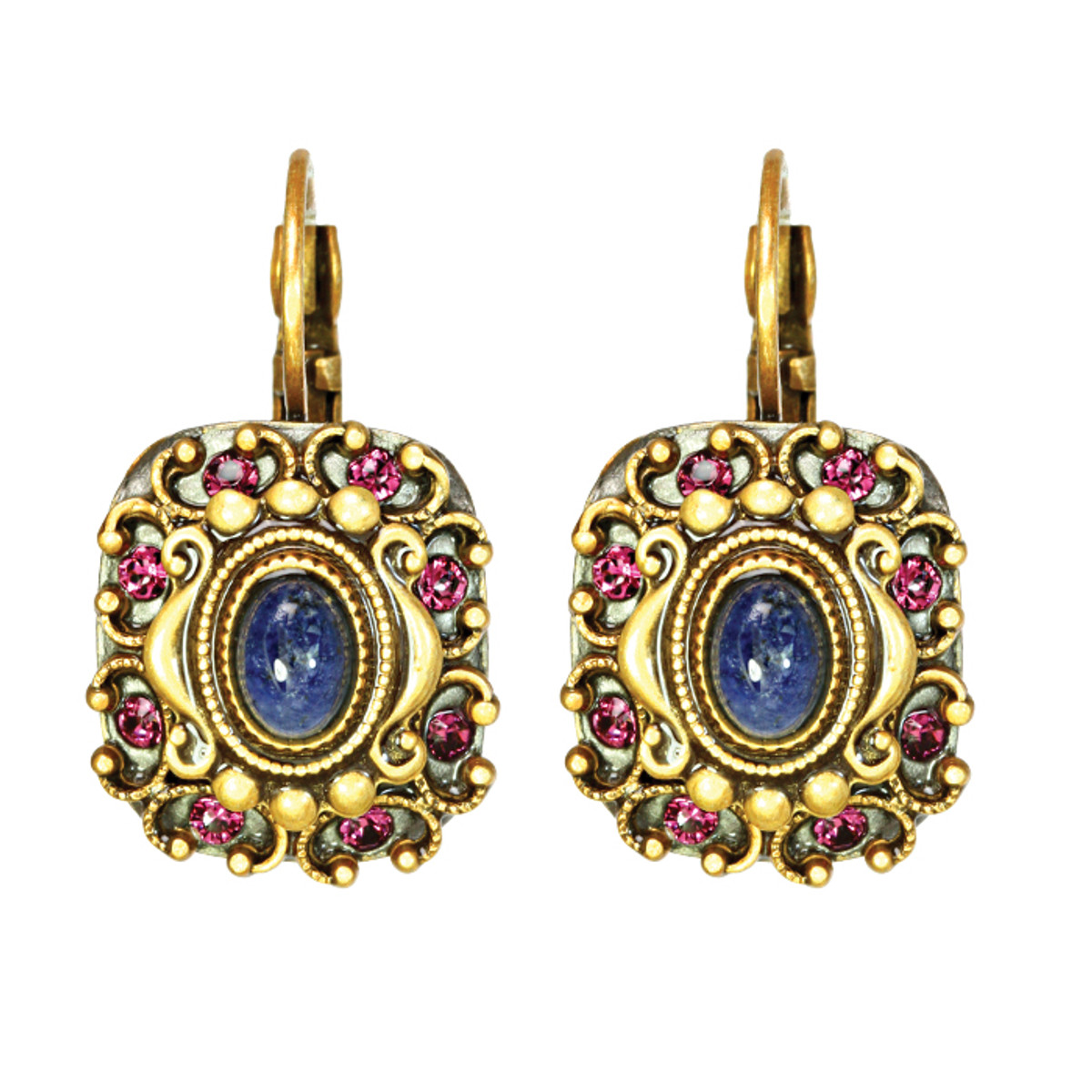 Michal Golan Earrings - Florence Retangle Euro Wire