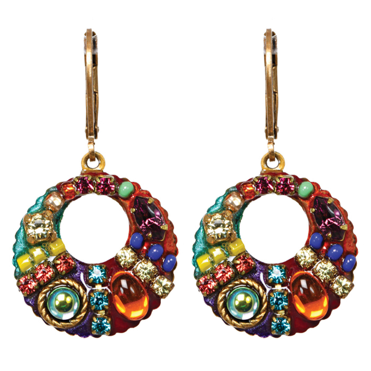 Michal Golan Earrings - Multibright Small Dangle Hoop