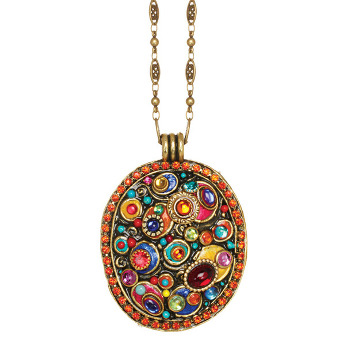 Michal Golan Confetti Oval On Chain Necklace - One Left
