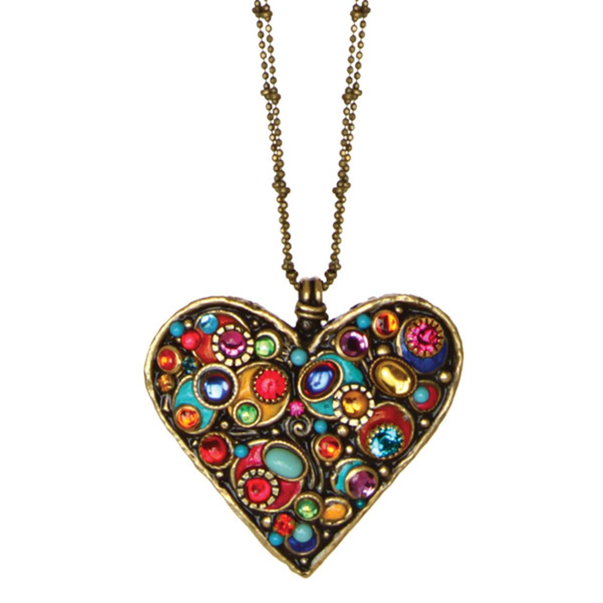 Michal Golan Confetti Heart Pendant Necklace