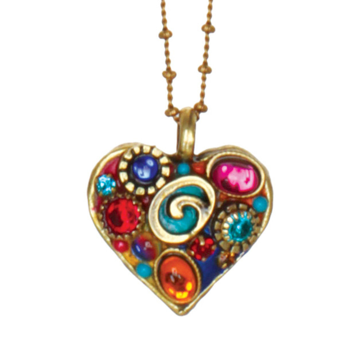 Michal Golan Necklace - Small Heart Chain
