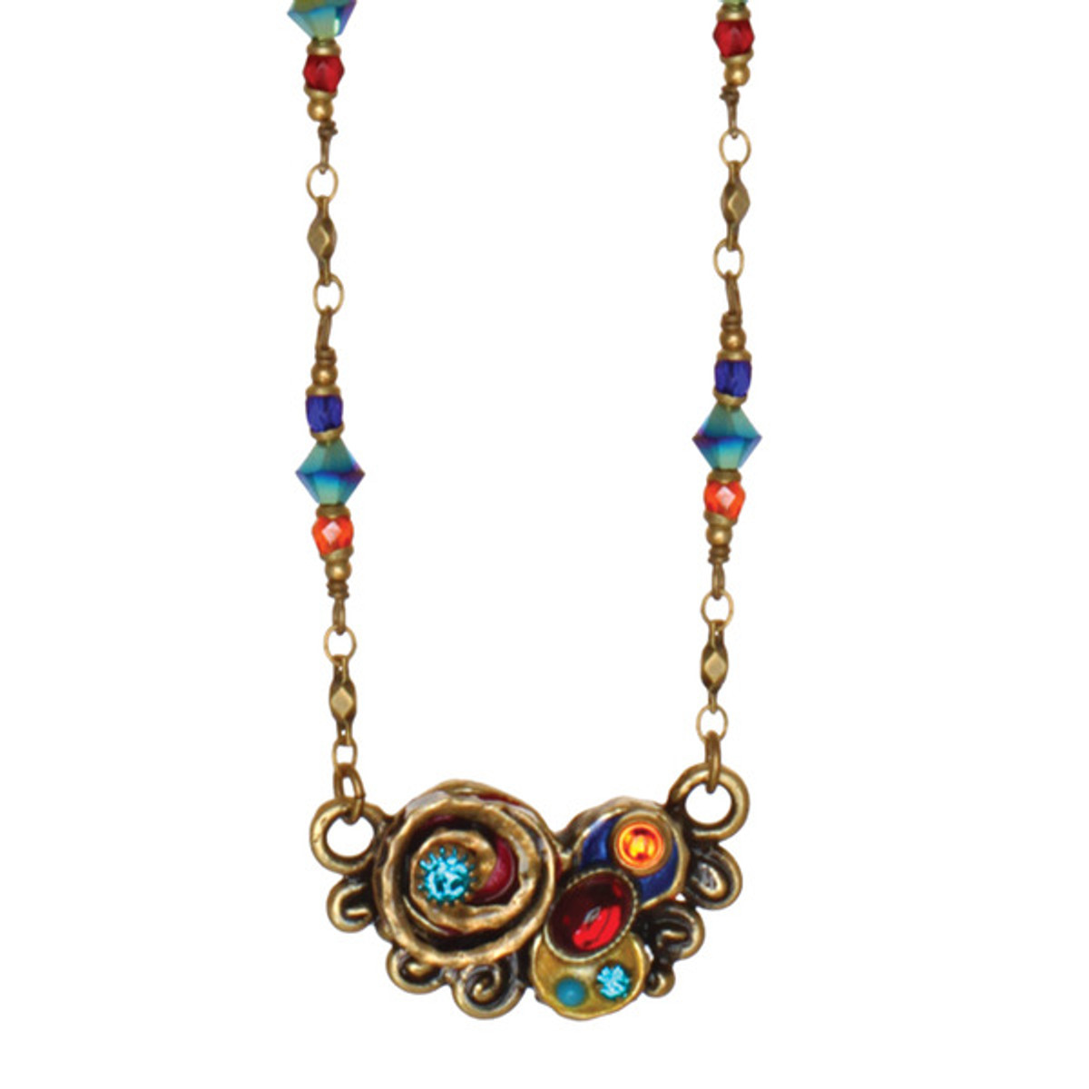 Michal Golan Jewelry Curved Bead Chain Necklace