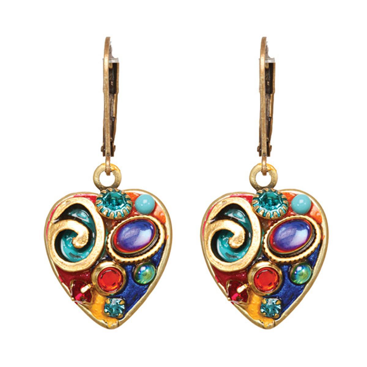 Michal Golan Confetti Small Heart Earring