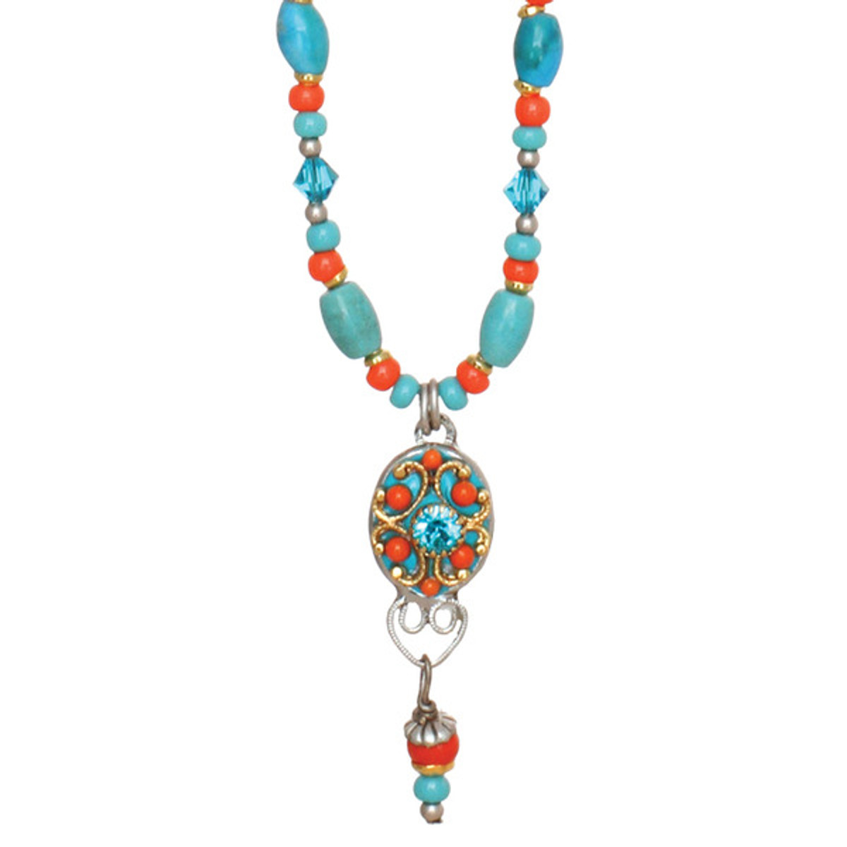Michal Golan Beaded Oval Necklace