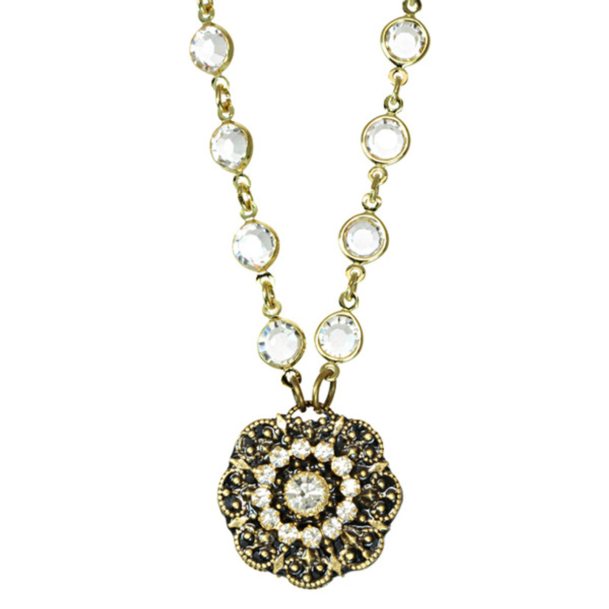 Michal Golan Jewelry Crysal Chain Necklace