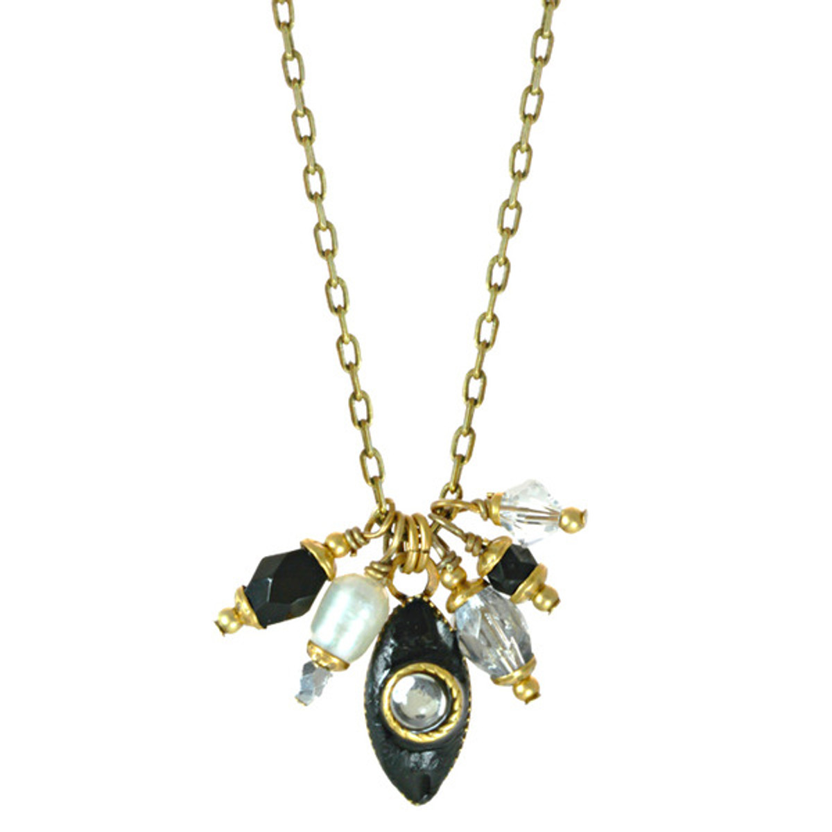 Michal Golan Deco Crystal Evil Eye Necklace Deco