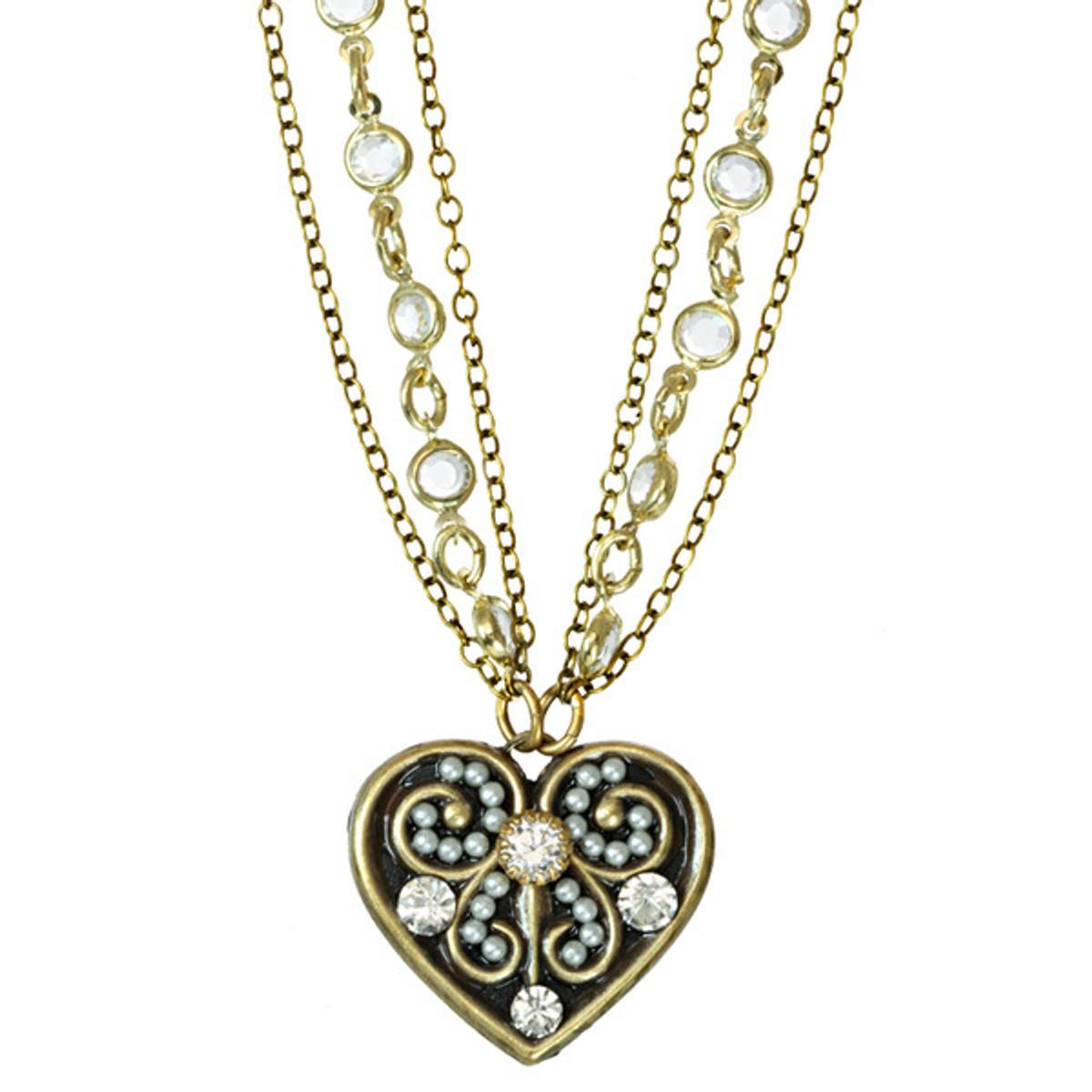 Michal Golan Small Heart Pendant On Chanel