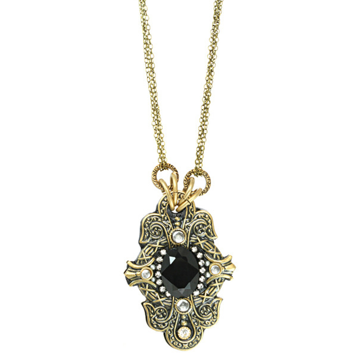 Michal Golan Large Oval Crystal Necklace