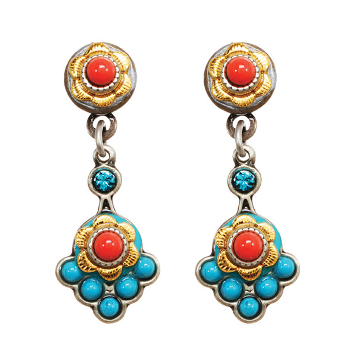 Michal Golan Earrings Coral Sea - S7642