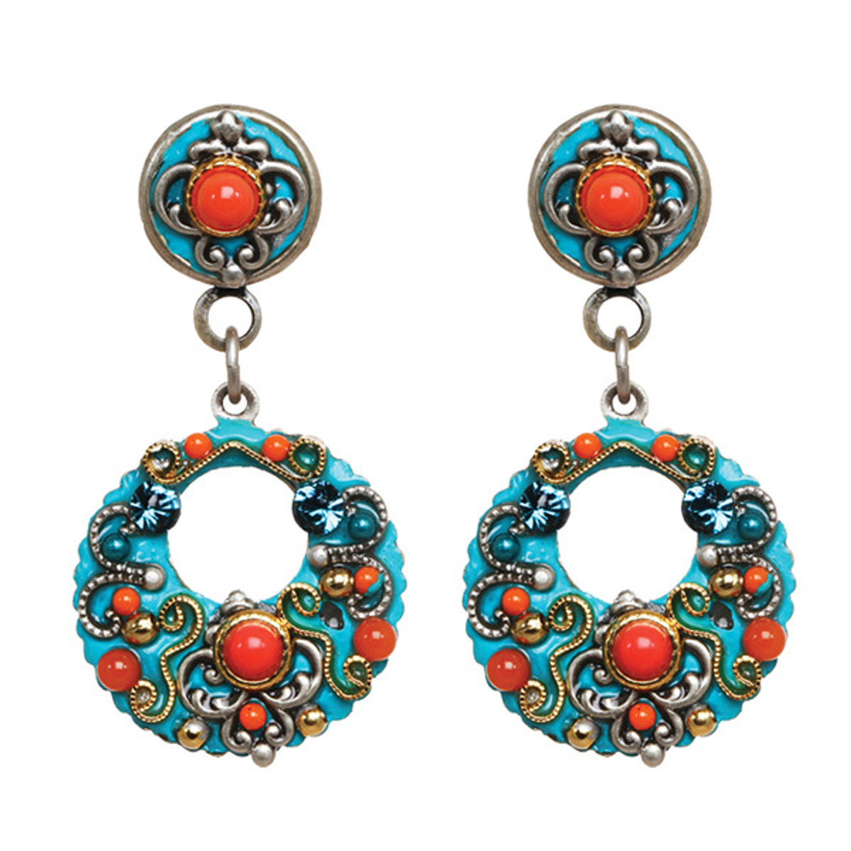 Michal Golan Jewelry Coral Sea Dangle Earrings