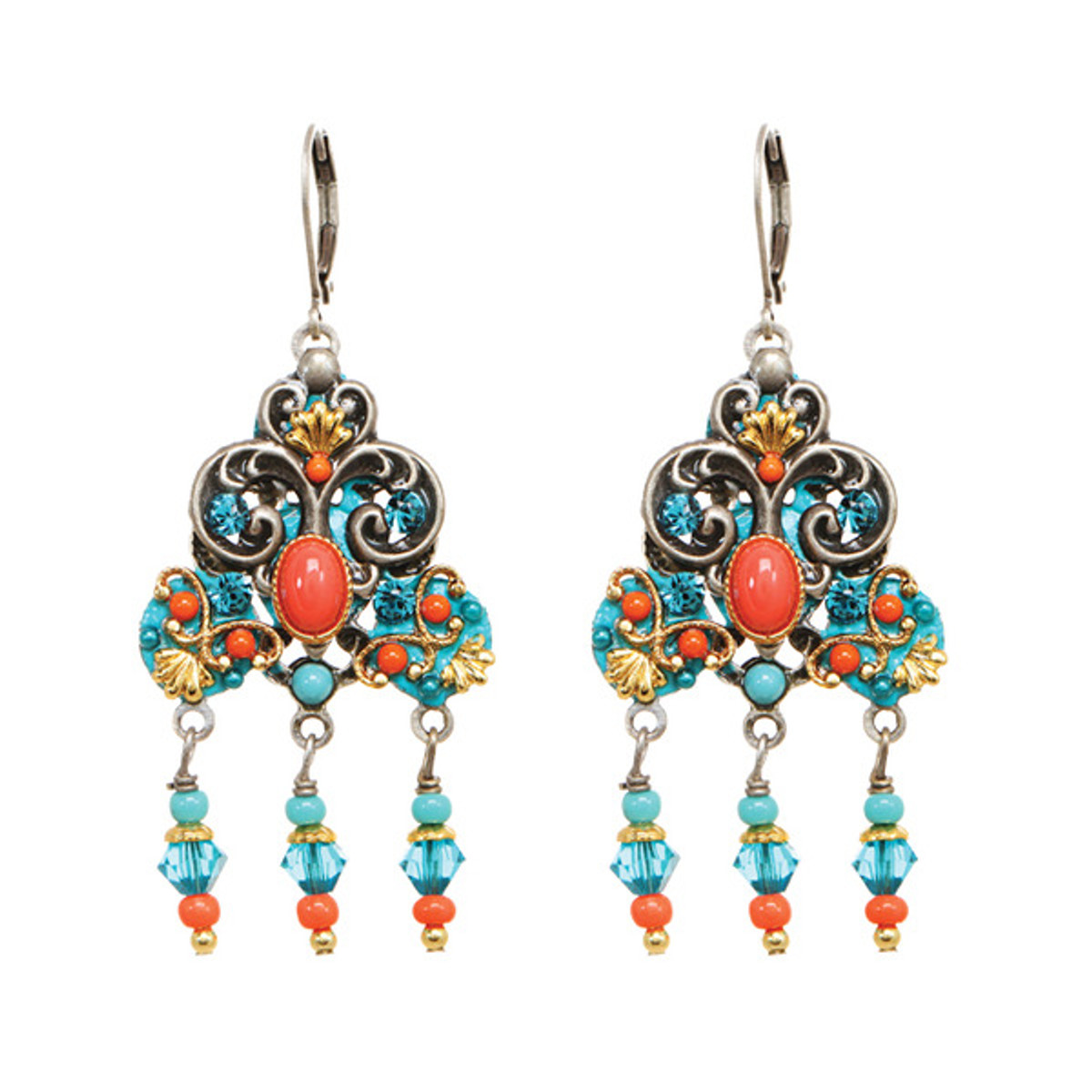 Lovely Coral Sea Earrings From Michal Golan Jewelry