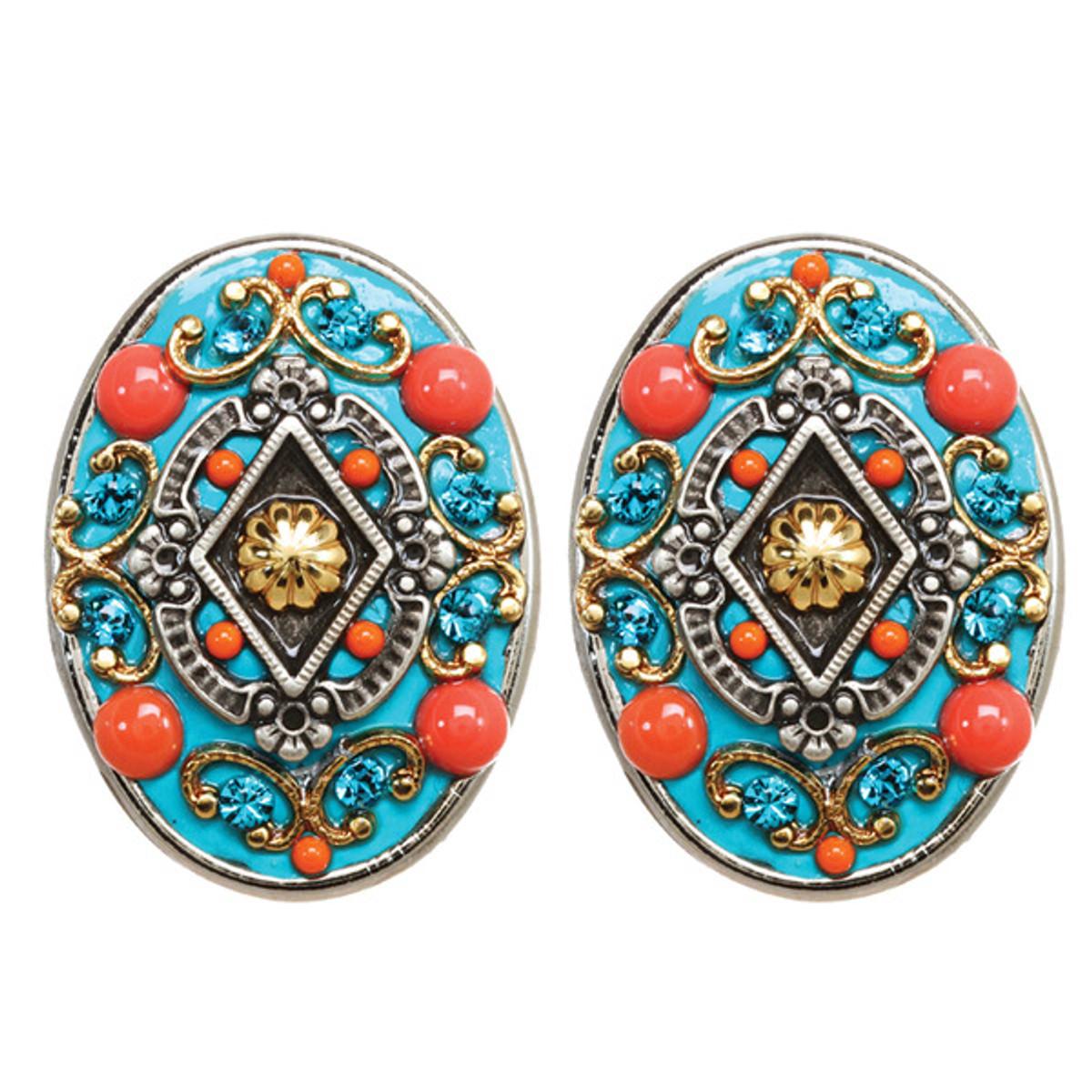 Michal Golan Earrings Coral Sea - S7652C