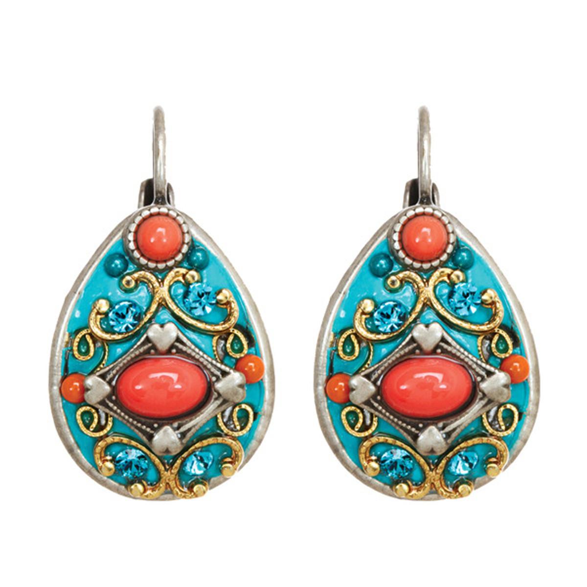 Michal Golan Jewelry Coral Sea Earrings - S7653