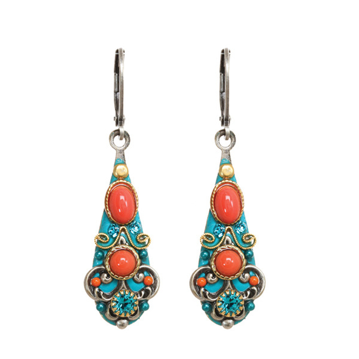 Michal Golan Jewelry Coral Sea Earrings - S7656