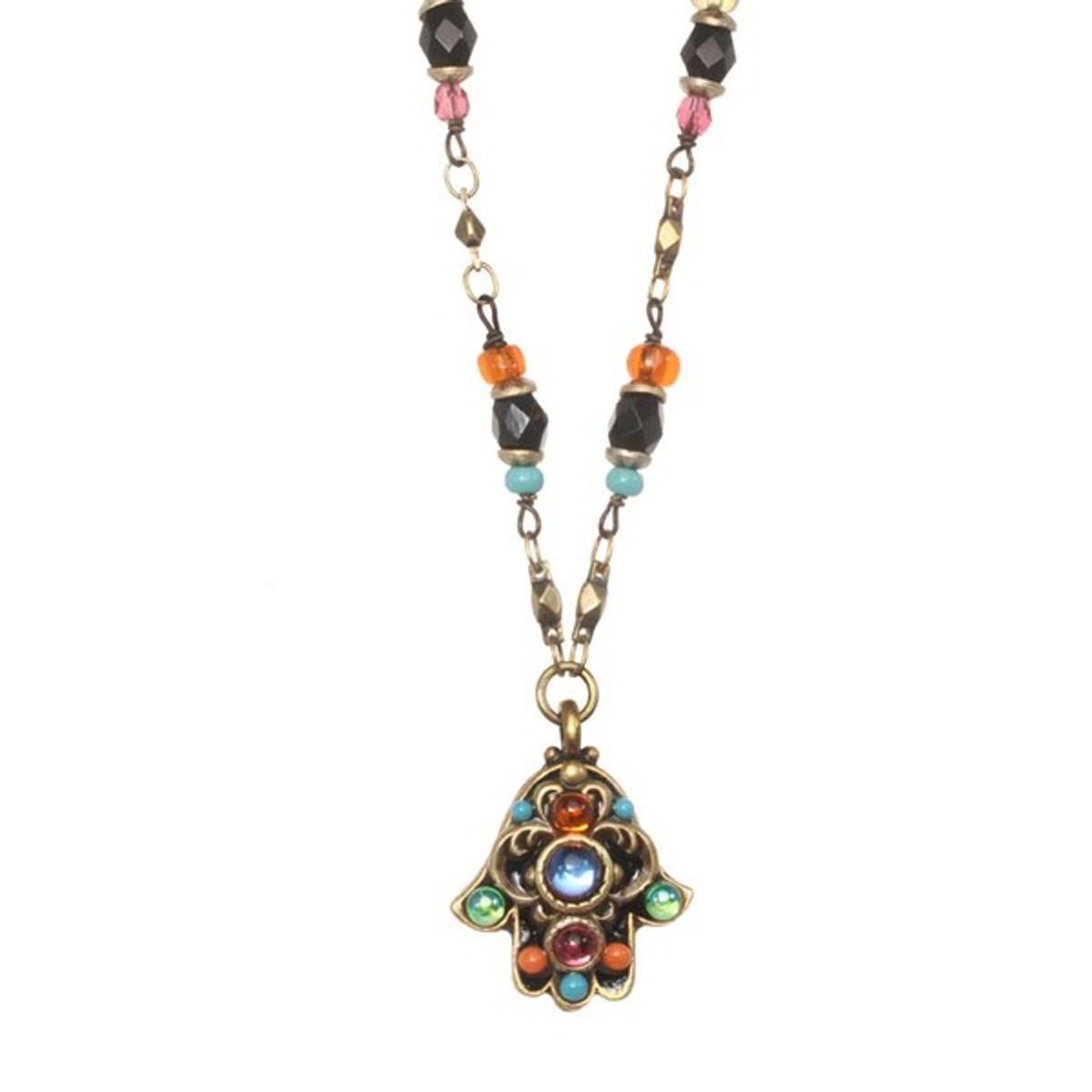 Michal Golan Jewelry Evil Eye Hamsa Necklace
